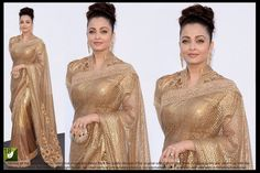 New Indian Ethnic Party Wear Sari Bright Net Bollywood Designer Pakistani Saree  #Saree