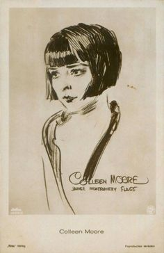 drawing of Colleen Moore by none other than James Montgomery Flagg, of Uncle Sam wanting you fame! the very same portrait (in miniature) can be seen in Moore's famed Fairy Castle