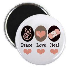 peace, love, heal