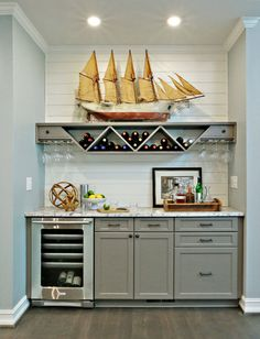 57 Fabulous Home Bar Designs You'll Go Crazy For. Decorating your ideal home bar design. Consider yourself lucky if you've got your own home bar – it's a perfect social gathering . Home Bar Rooms, Diy Home Bar, Home Bar Decor, Diy Bar, Home Design, Home Bar Designs, Design Ideas, Kitchen Designs, Mini Bars