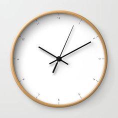 Modern Clock Modern Wall Clock Modern Clock The Modern Clock Black and white clock modern striped clock modern wall clock USD) by STANLEYprintHOUSE White Wall Clocks, Unique Wall Clocks, Minimalist Clocks, Minimalist Decor, Clocks Back, Cream Walls, White Decor, My New Room, Modern Wall