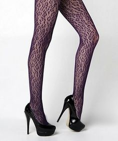 Take a look at this Violet Leopard Tights by r.bryant on #zulily today!