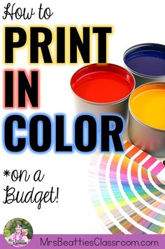 Going through colored printer ink like water? Never worry about printing in color again! Here's the secret to how to print in color on a budget. Head over now to grab a free month! Teaching Procedures, Teaching Strategies, Teaching Math, Teaching Resources, Classroom Resources, Teacher Organization, Teacher Hacks, Turquoise And Black Classroom, Printer Hacks