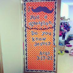 I <mustache> you a question.  Do you know Jesus?