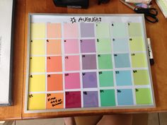Calendar From Paint Samples Could Add Wide Paint Sample To The