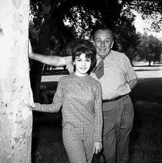 Annette Funicello and Walt Disney.