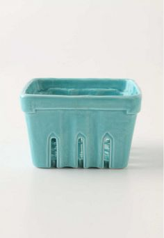 Ceramic strawberry basket!  <3