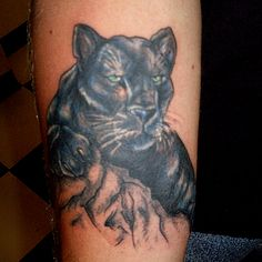 Black Panther Tattoos for Women | Panther Tattoo by SuperSibataru