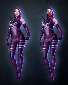 That Psylocke Thang — Psylocke costume designby pretty-cool-huh Marvel Girls, Comics Girls, Marvel Heroes, Marvel Dc, Marvel Comics, Super Hero Outfits, Super Hero Costumes, Marvel Comic Character, Marvel Characters