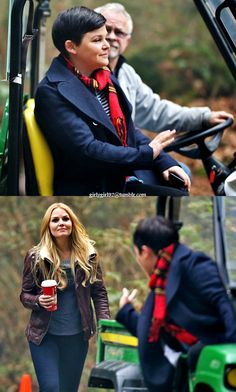Jen and Ginny on set (19th November 2014)