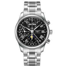 Longines Master Men's Moonphase Chronograph Automatic Watch for sale online High End Watches, Big Watches, Best Watches For Men, Cool Watches, Wrist Watches, Dolce And Gabbana Watches, Ski, Watch Master, Authentic Watches