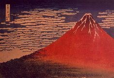 Mount Fuji in Clear Weather Katsushika Hokusai