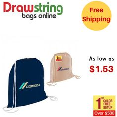 A perfect drawstring bag that can promote brand to the next level and have a large storage space also. Cotton Drawstring Bags, Drawstring Backpack, Online Shipping, Brand Promotion, Custom Bags, Online Bags, Backpacks, Space, Storage