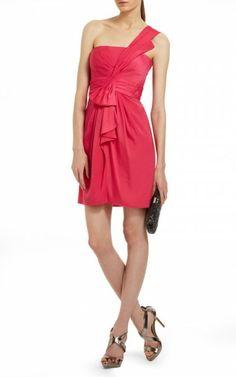 Bcbg Palais One Shoulder Cocktail Dress RedOutlet