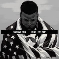 Sam Wilson Captain America/A$AP Rocky Long.Live.A$AP mashup variant cover. I need this framed!  Image via Comic Book Resources