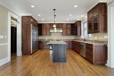 43 Clean And Sharp Modern Kitchen Designs - 2020 Home design Kitchen Cabinets Pictures, Black Kitchen Cabinets, Black Kitchens, Home Kitchens, Paint Cabinets White, Dark Wood Cabinets, Home Design, Small Dishwasher, Modern Kitchen Design