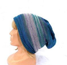 Knitted cotton hat knit colorful cap by peonijahandmadeshop