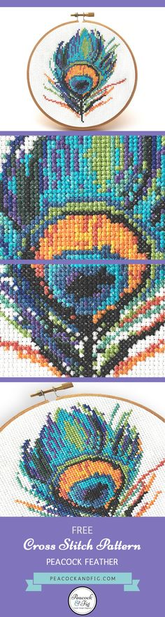 A gorgeous free project to brighten up your decor, a cross stitch favorite among Peacock & Fig fans.