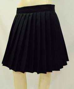 Elastic waistband Solid Black Color heavy Pleated Skirt~School Girl Skirt~Cosplay skirt~Plus size Grey Skirt~Custom make skirts @sohoskirts