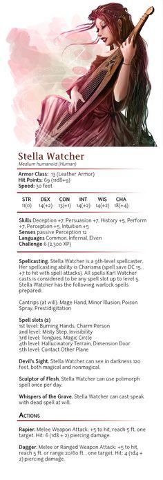 f Warlock Bard multi-class lute