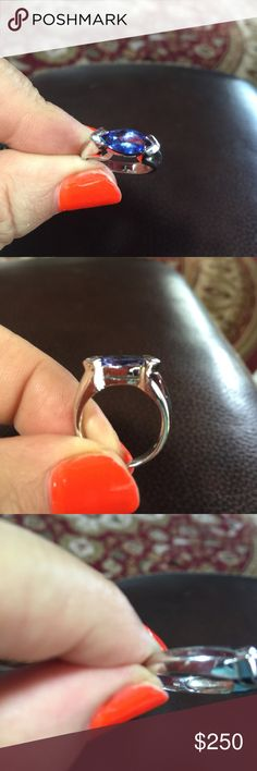 14k Tanzanite ring in white gold The crown jewel of my collection! Beautiful Tanzinite stone and the ring is real heavy! Jewelry Rings
