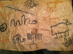 Looks like cave man wall art! Made by Kat, 9 years old • Art My Kid Made Artist Of The Day on 02/14/2013