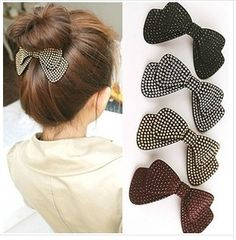 Cheap wear parts, Buy Quality wear love directly from China wear purple Suppliers: Women Accessories Hair pins & clips beizhu Elegant bowknot hair clips High-end women hair accessories Great B Diy Hair Bows, Diy Bow, Sewing To Sell, Diy Accessoires, Beaded Brooch, Hair Accessories For Women, Barrette, Ribbon Bows, Hair Jewelry