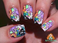 BP-L077 Nail Stamping, Nails, Finger Nails, Ongles, Nail, Nail Manicure
