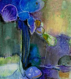 BENEDICTE GARNIER-FIHEY Bleu Végétal, pastel