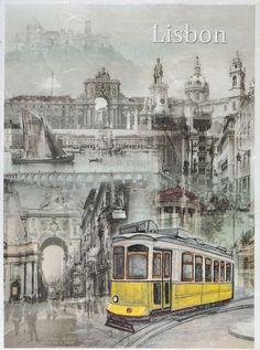 Rice Paper for Decoupage Decopatch Scrapbook Craft Sheet  Lisbon Portugal