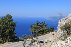 Adriatic Panorama of hills Sv Jure in Nature Park Biokovo in Croatia #croatia #chorwacja #biokovo #svjure