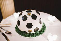 For the soccer fan groom: a soccer ball groom's cake!