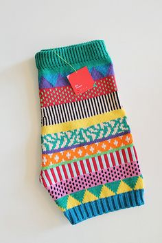 loving knit patterns in crazy colours - these are shorts & you can buy them!