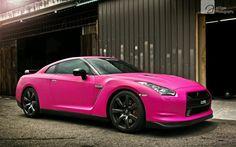 Pink Nissan Gtr, <3