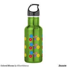 Colored Blooms 18oz Water Bottle