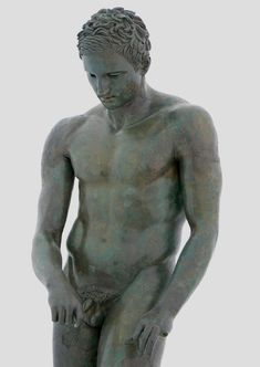 The Croatian Apoxyomenos (Scraper), bronze, 3rd century BC; a recent discovery, a snorkeling tourist found this statue off the Croatian coast in 1999. This statue shows an athlete scraping the sweat and oil off his hand or his thigh with a now lost strigil.