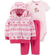 db9e50c0e Child of Mine by Carter's Newborn Baby Girl Cardigan Set 3 Pieces, Size: 0