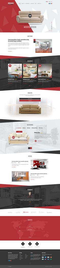 Furniture PSD Template by on DeviantArt News Web Design, Creative Web Design, Site Design, Website Layout, Web Layout, Layout Design, Responsive Template, Responsive Web Design, Innovative Websites