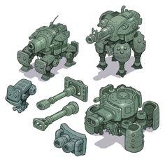 Mech Tank Concept Art by Nerd-Scribbles on DeviantArt