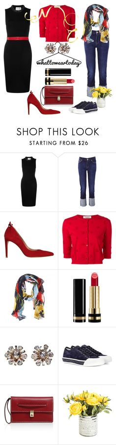 """DECISIONS"" by tinagarrison ❤ liked on Polyvore featuring Christopher Kane, 7 For All Mankind, Stuart Weitzman, Valentino, Joules, Gucci, Miriam Haskell, Tod's and Marni"