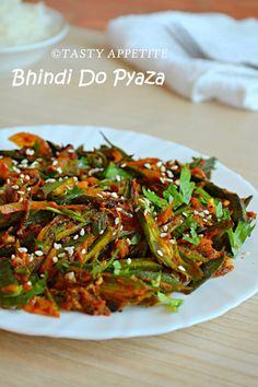 Tasty Appetite: How to make Bhindi Do Pyaza / Bhindi Masala / Spicy Okra Fry: