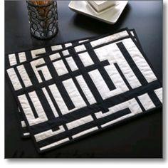 Black White Place Mats By Alissa Haight Carlton In International Quilt Festival Scene