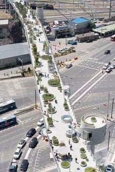 Em Seul, elevado é transformado em parque (Foto: Divulgação) #landscapearchitecture