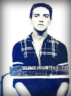 A prison photo of Patsy O'Hara taken during a six month incarceration period in 1975, which was released only in 2009 with a family request. O'Hara died on day 61 of a prison hunger strike in 1981 at the age of 23. He is only 18 in this photograph.