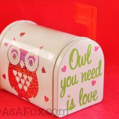 I have had way too much fun designing this Valentine's Day. I had the Minecraft printable valentines, the Teaching is a work of Heart Valentines, the Lovebirds Cards, and the Love Notes Mailbox. I got the idea to make an owl that incorporated hearts for a teacher that loves owls. I couldn't...