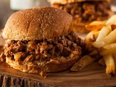 A 5-star recipe for Homemade BBQ Sloppy Joes made with ground beef, onion, brown sugar, prepared mustard, barbecue sauce