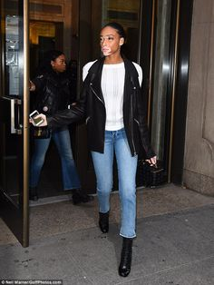 e563c6683dd Winnie Harlow attends casting during New York Fashion Week