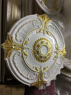 PU ceiling medallion Gypsum Ceiling, Ceiling Rose, Ceiling Decor, Dream Home Design, House Design, Gold Sheets, Dream Shower, False Ceiling Design, Pop Design
