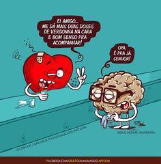 WEBSTA @ guilherme_bandeira - Toma! #razaovsemocao #guilhermebandeira #objetosinanimados #universoparalelo #quadrinhos #charges #tirinhas #desenhos #coracao #cerebro #vergonhanacara #bomsenso #rabiscos