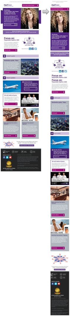 Responsive email design from Heathrow Express